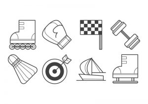 free-sport-stuff-icon-vector
