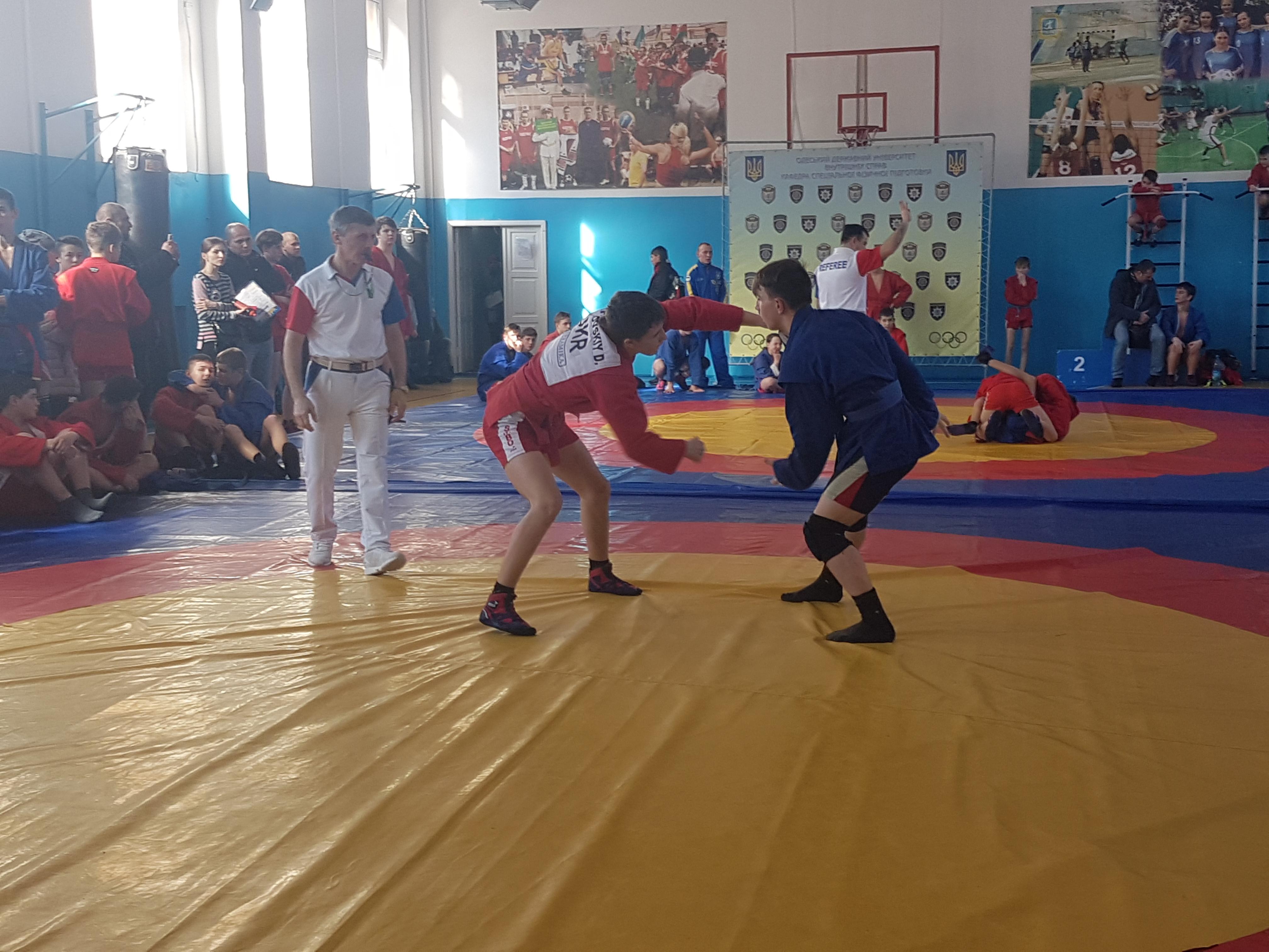 Открытый турнир по спортивному самбо прошел в Одессе