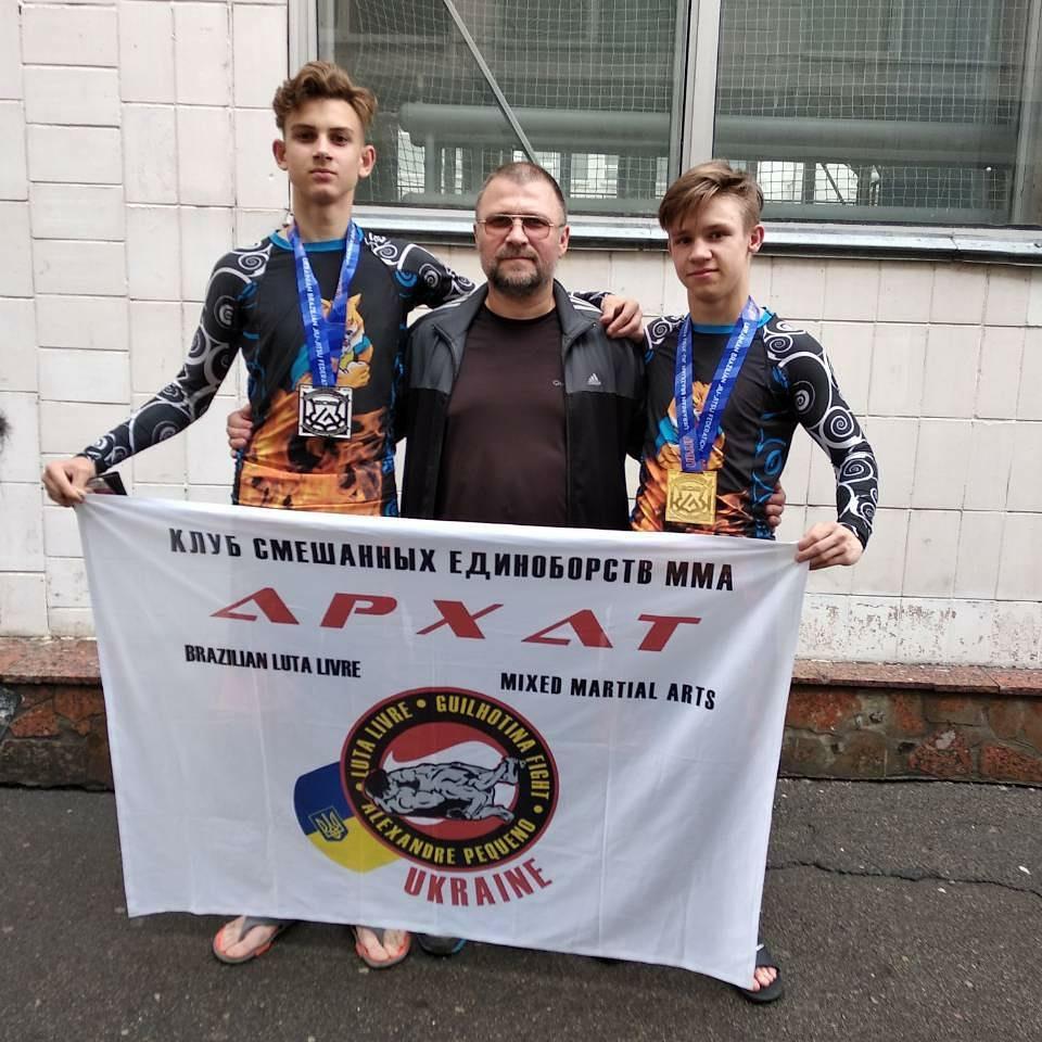 Чемпионат Украины по бразильскому джиу-джитсу: спортсмены клуба «Архат» с медалями