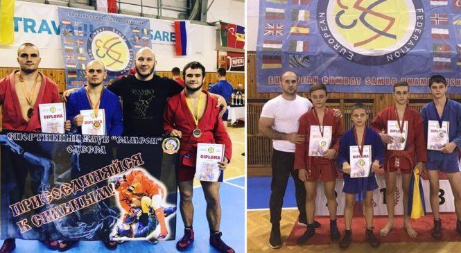 Чемпионат Европы по боевому самбо: одесситы привезли 7 наград