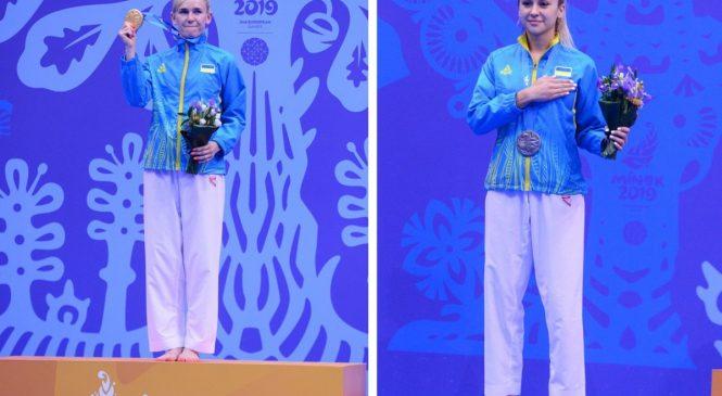 «Золото» и «серебро» завоевали одесские каратистки на ІІ Европейских играх
